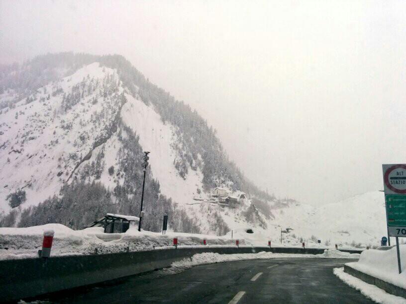 Mount Blanc, enroute from Milano to Lyon