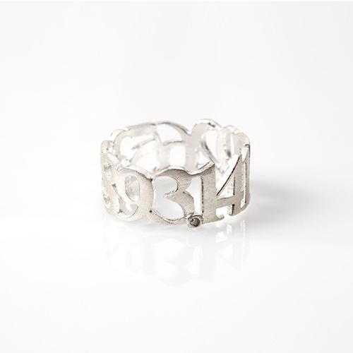 Frieda Munro, Pi Ring. 3.14159.....