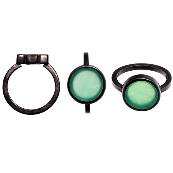 Sian Evans, Green Dot Ring, £150