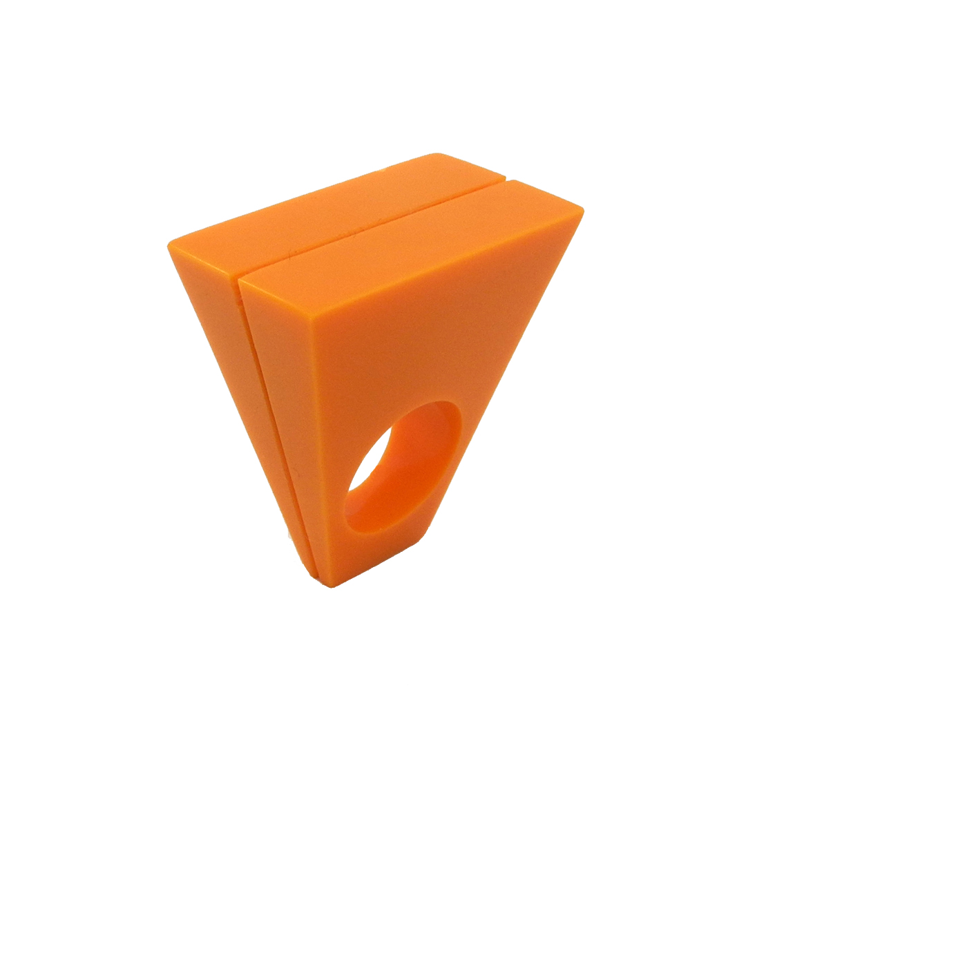 Sophie Thomas Orange Corian Ring