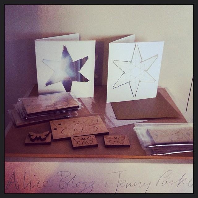 pop-out & fold #lasercut #christmas #cards by @jennyplondon and cedar moths by @aliceblogg