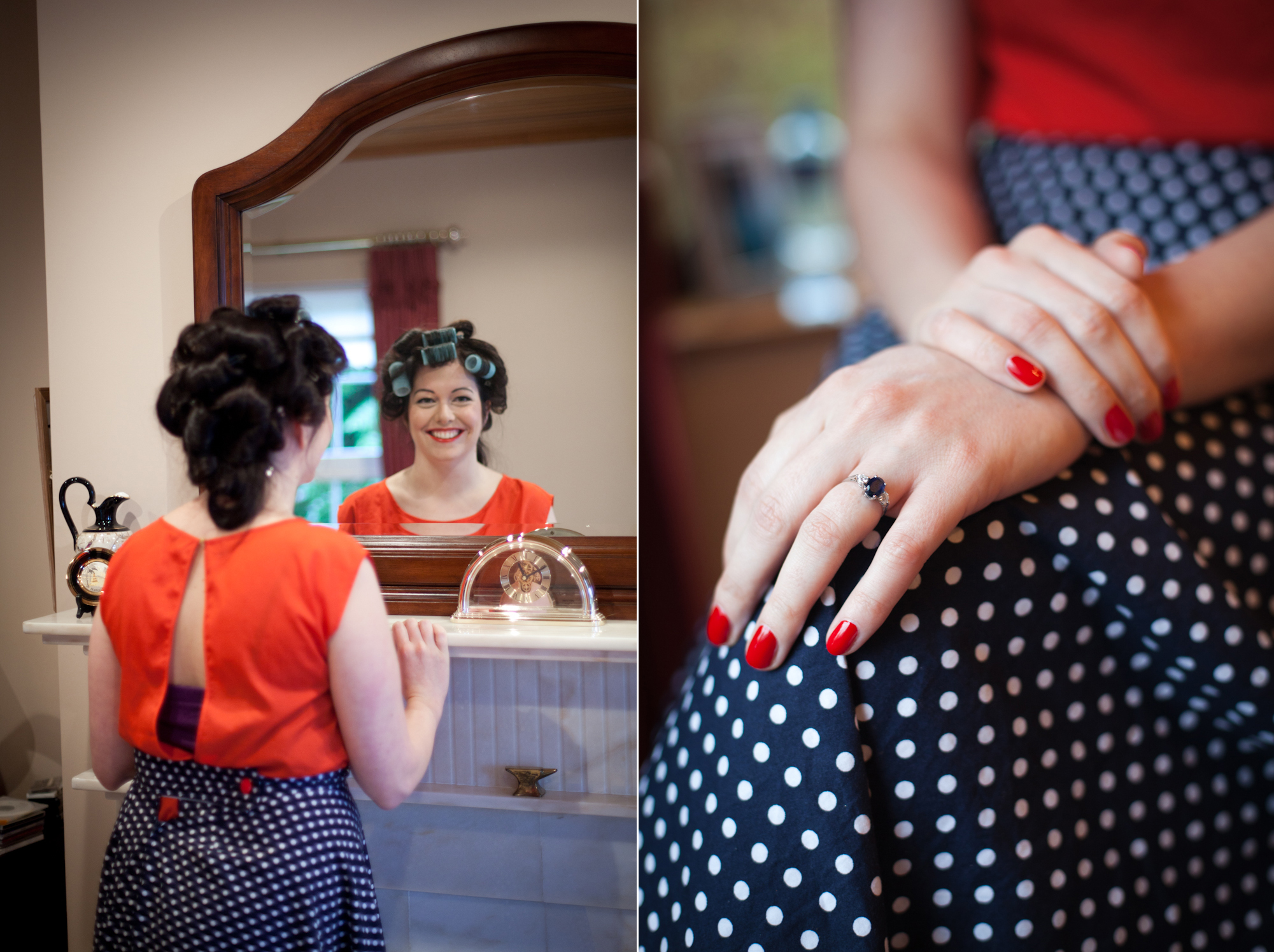 affordable wedding photography, budget wedding photography Dublin, Budget wedding photography Ireland, Polka dot bride, Sapphire engagement ring