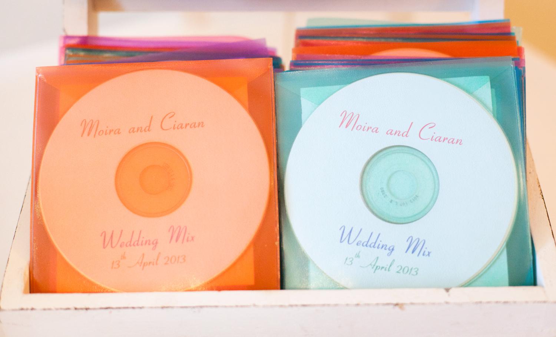 wedding favor's, a CD compilation wedding favor