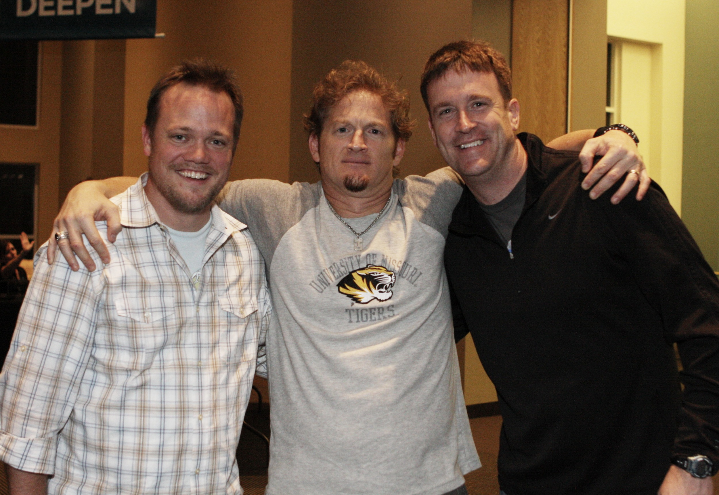 Here are Rob and Braun with Tim Hawkins.