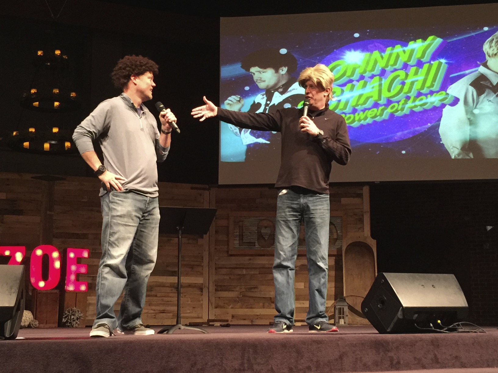 Johnny and Chachi at the Zoe Conference 2014