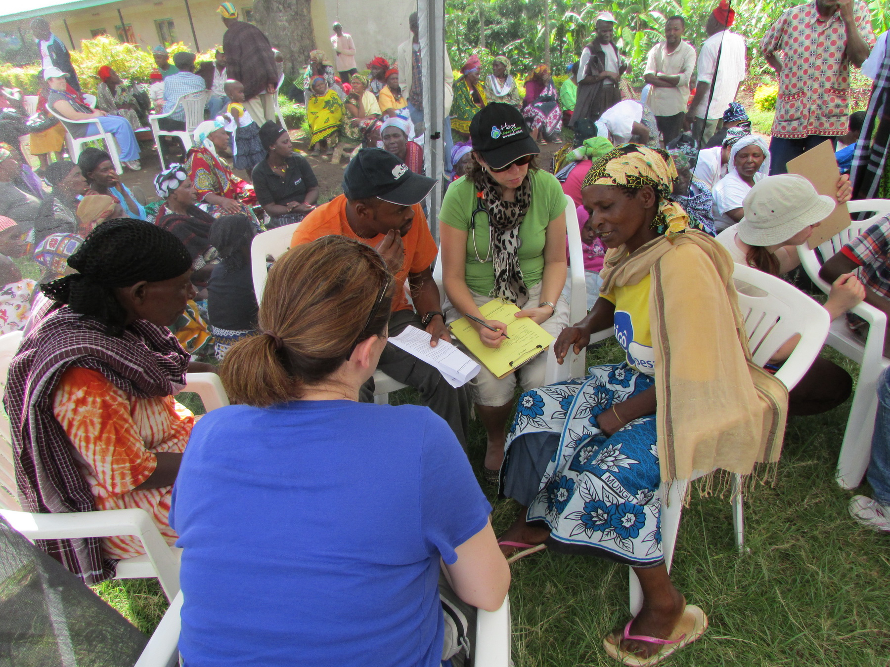 Treating patients at the Medical Camp in Marangu, Tanzania 2013