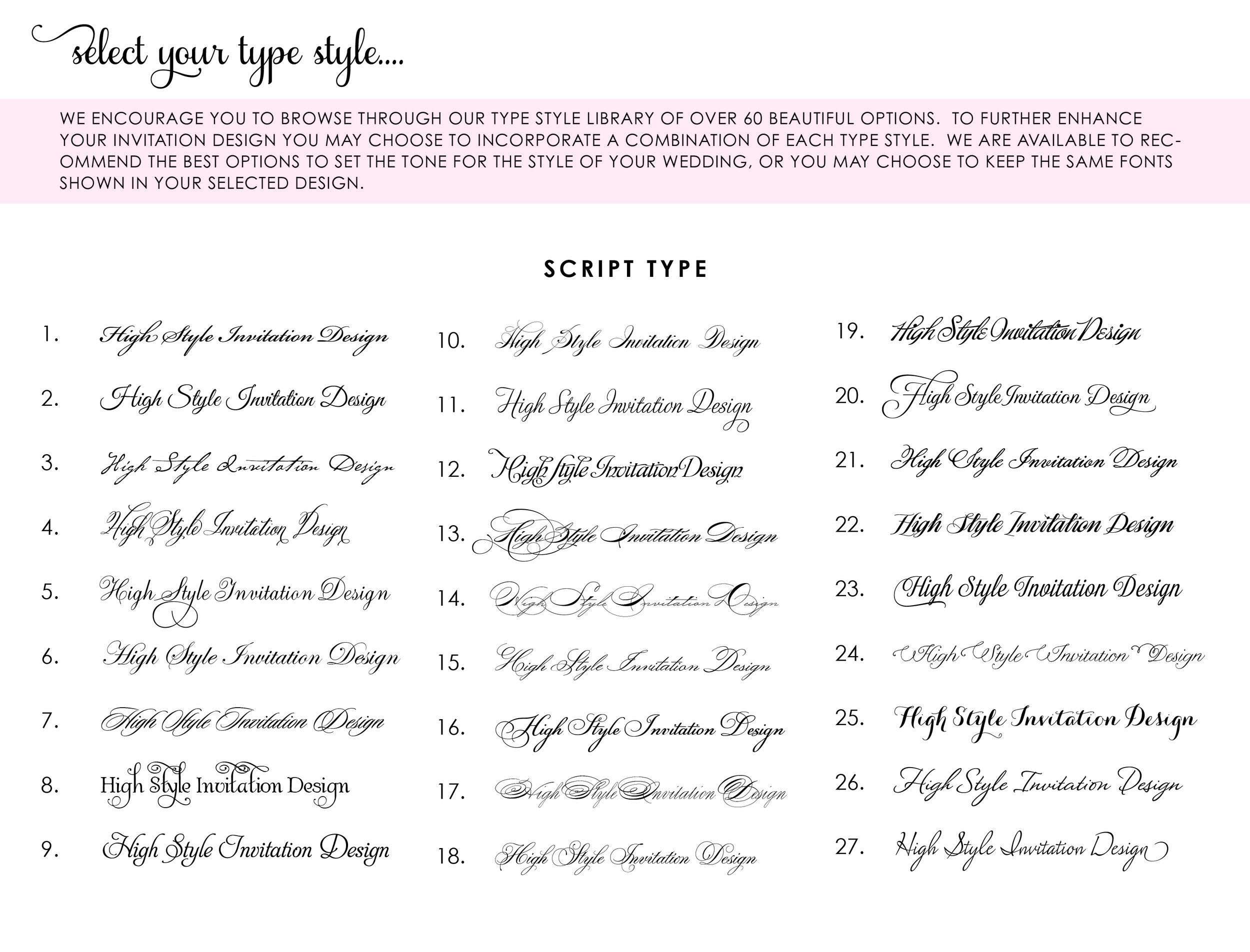 Wedding Invitation Fonts.Choosing The Right Fonts For Your Wedding Invitations The Plume