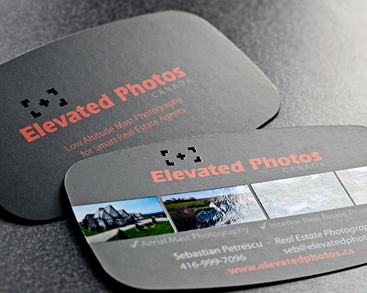 Elevated Photos Business cards