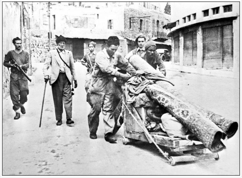haganah soldiers expel Palestinians at gunpoint, Haifa, may 12, 1948, gideon levy, ha'aretz, 9/22/16 via mondoweiss.net/2016/09/abbas-issues-denial/
