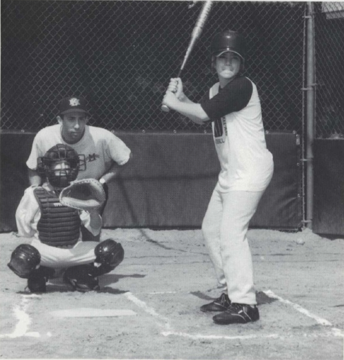 Me playing baseball in the 1990s.