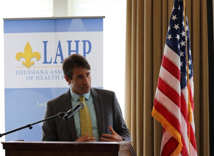 U.S. Congressman Garret Graves addresses attendees during the 2017 lahp post-legislative workshop