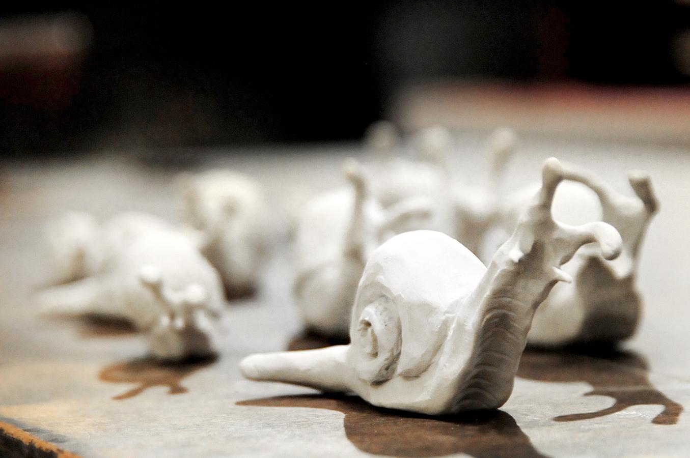 Sculpey snails