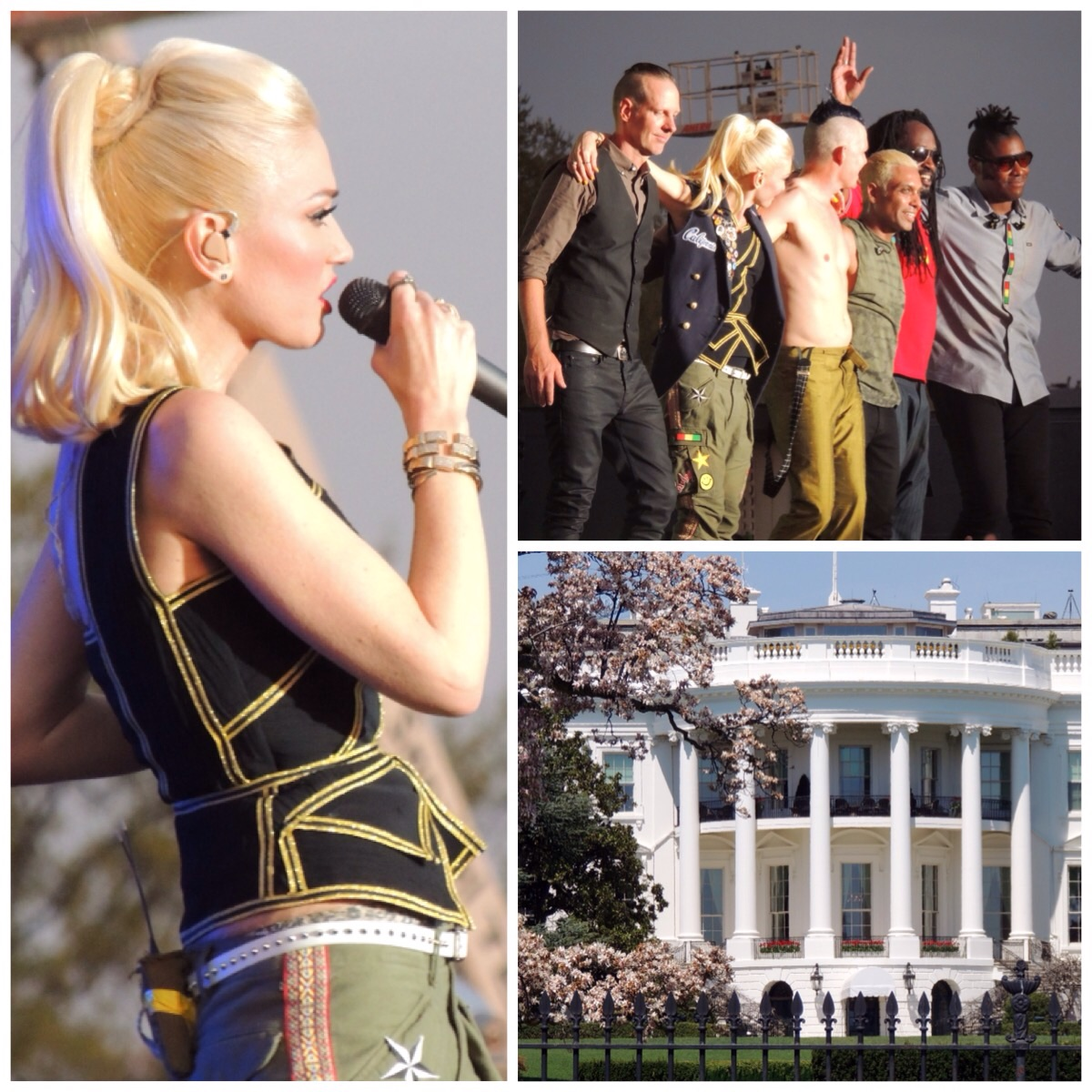 No Doubt and the White House visible from the event