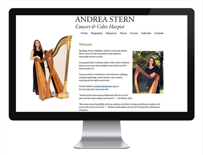Andrea Stern, harpist