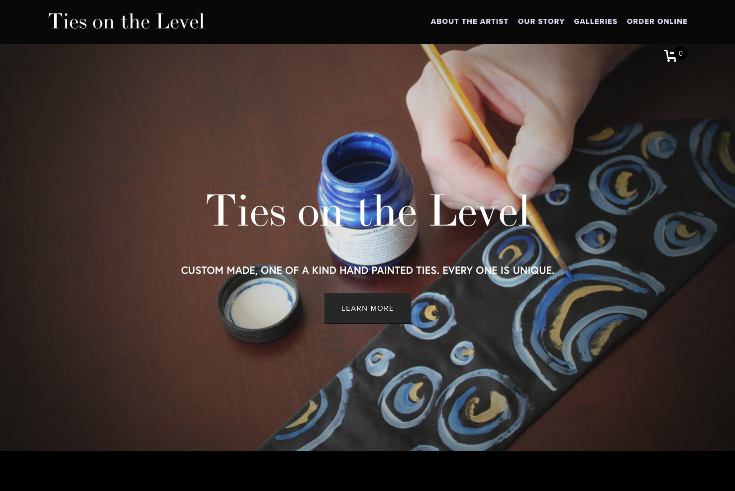 Ties on the Level - home page