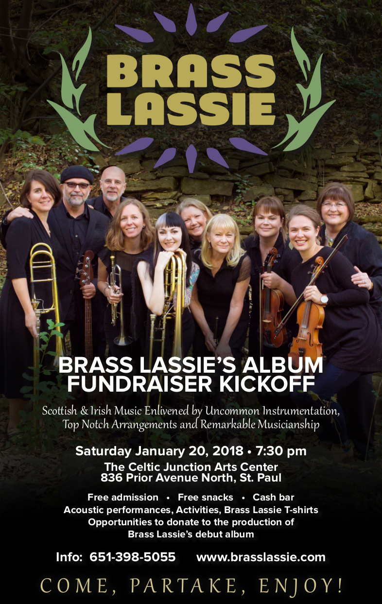 Brass Lassie CD Release Party Poster