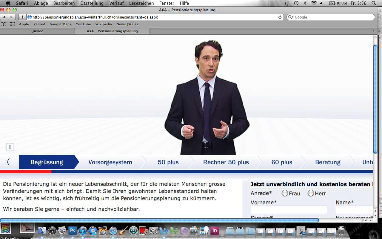 AXA web commercial project