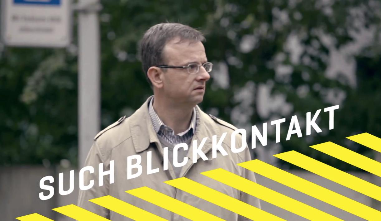"Screenshot Werbedreh ""Such Blickkontakt"""