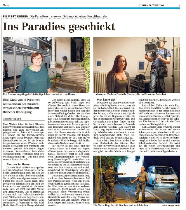 """ Am Fenster"" Basel Newspaper"