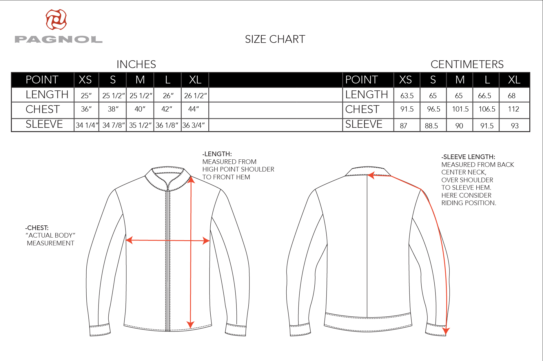 """IF YOU ARE IN BETWEEN SIZES, WE RECOMMEND GOING WITH THE SIZE UP, EXAMPLE: 41"""" CHEST- USE SZ L"""