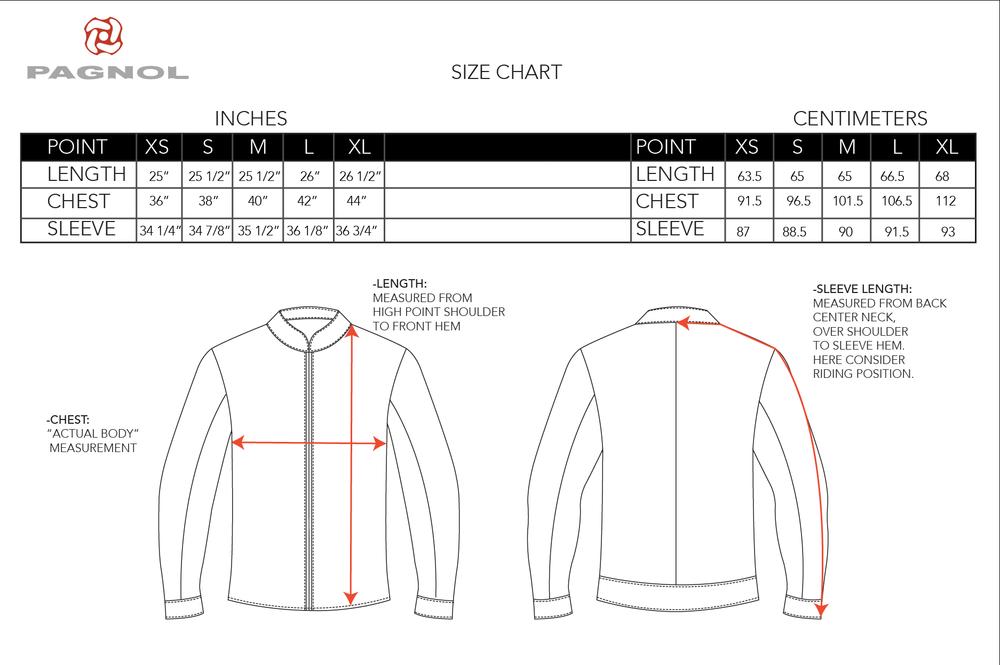 PAGNOL-MOTOR Pagnol -Size Chart journal