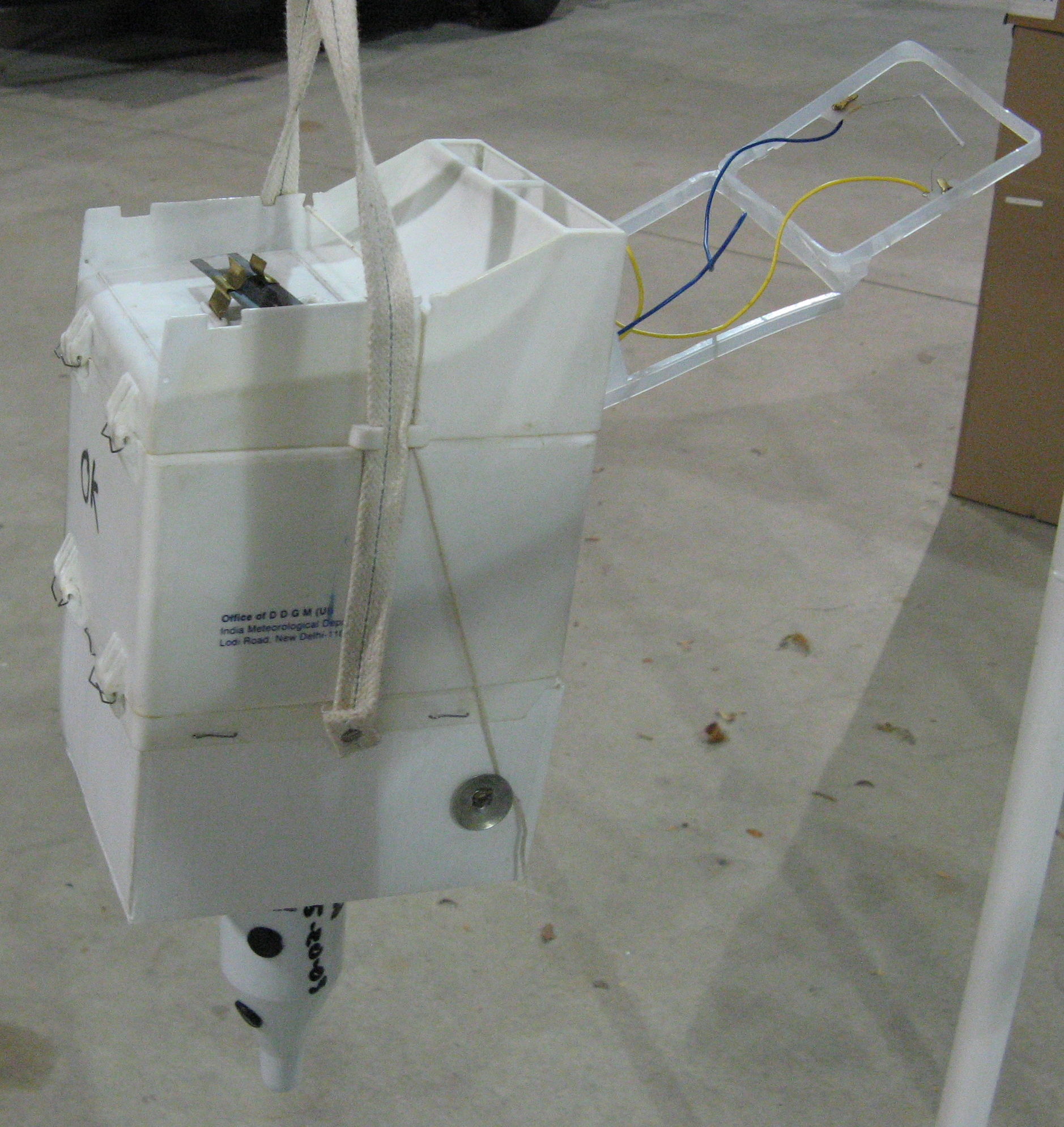 Indian weather balloon analog radio probe.