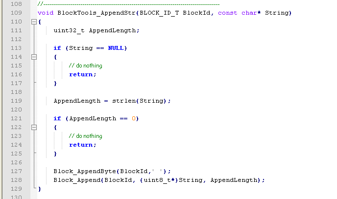 Sample source code to be tested.