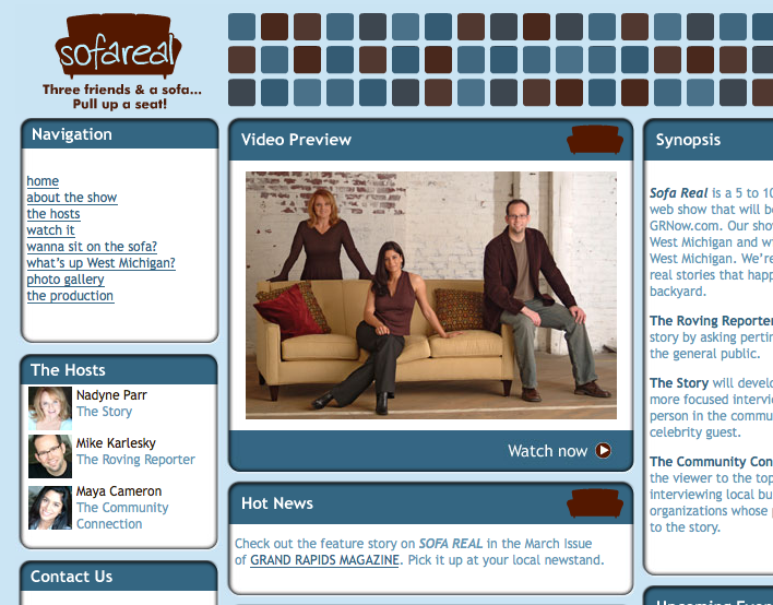 Sofa Real  website (no longer active). That's me on the right.