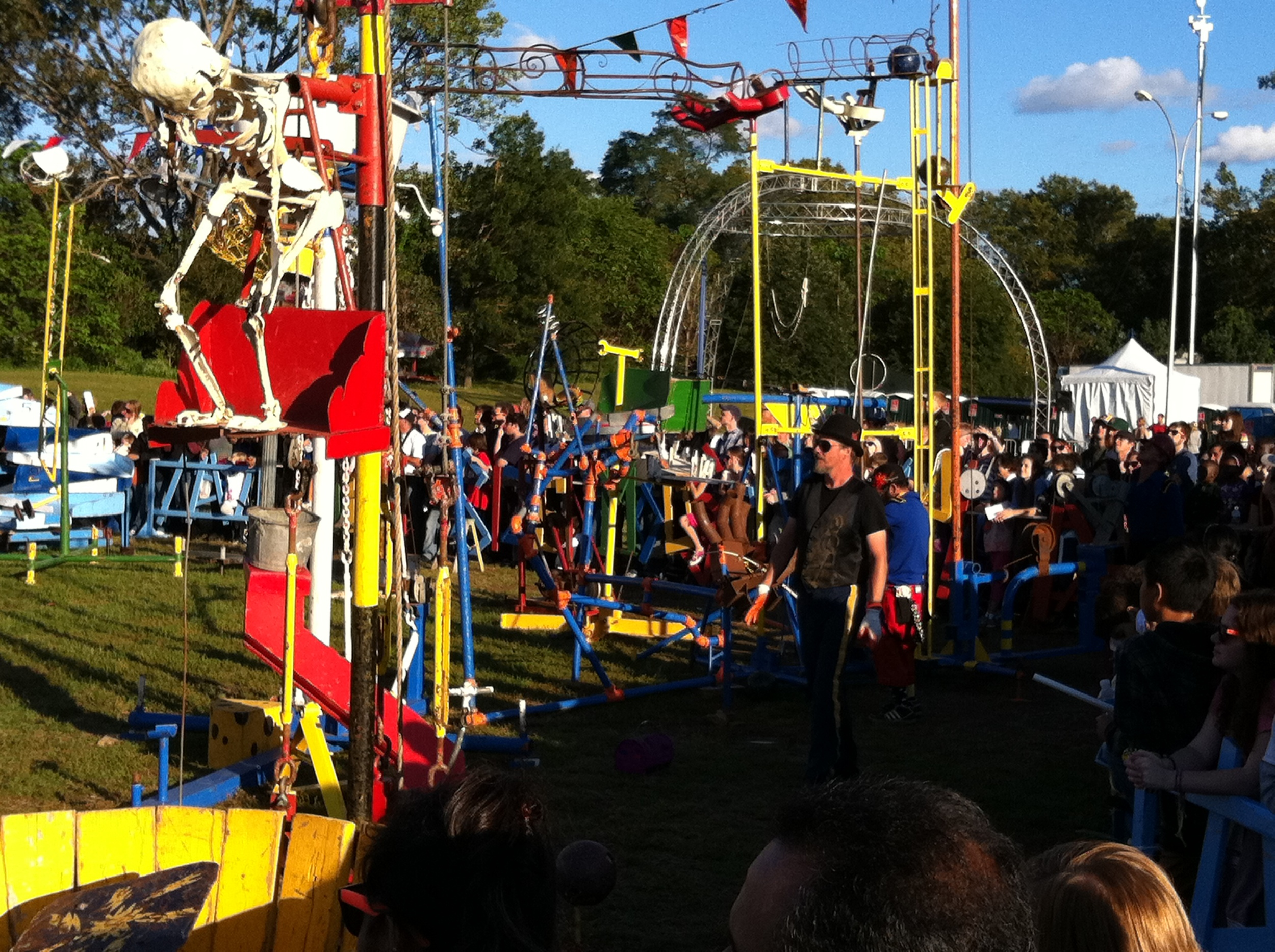 I went to Maker Faire. It's one part technology trade show and one part carnival sideshow.