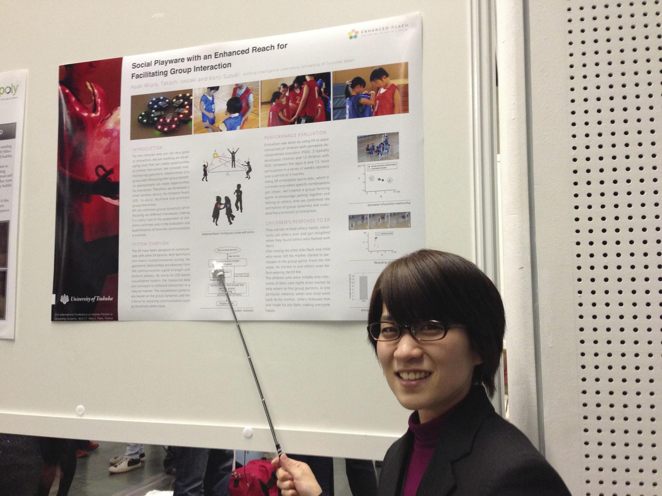 My neighbor Asaki at the poster presentation