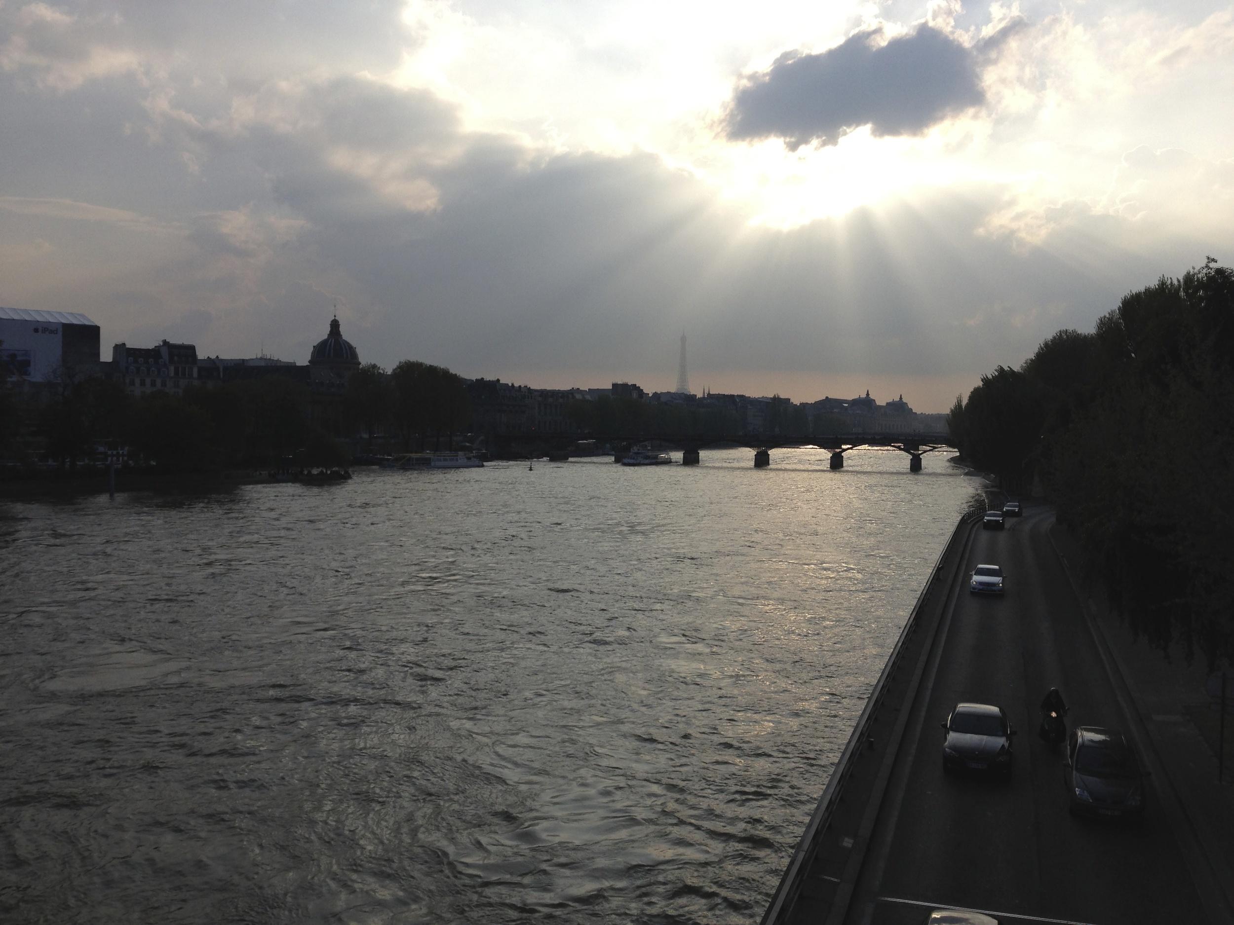 The Seine at dusk