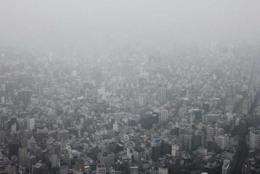 View of the city from the Tokyo Sky Tree.