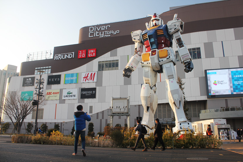 Of course, we can't forget the Gundam Cafe.