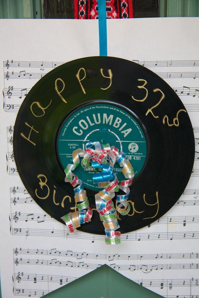Dada's Birthday Record Door SIgn