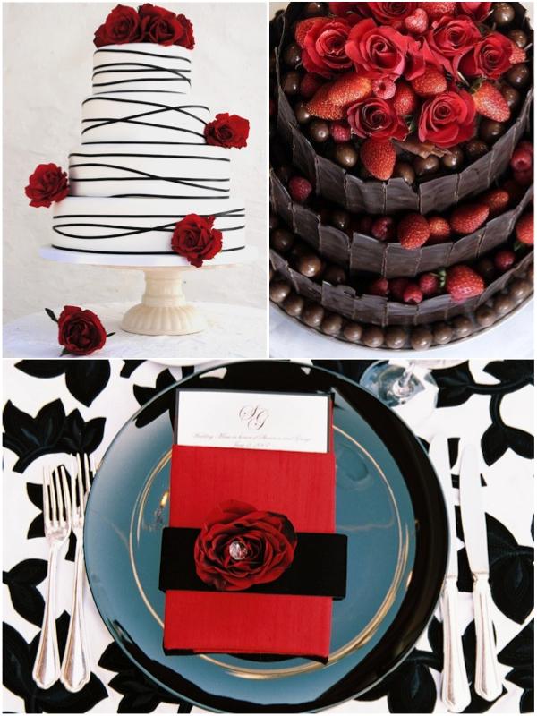 Red, white and black wedding cakes.jpg