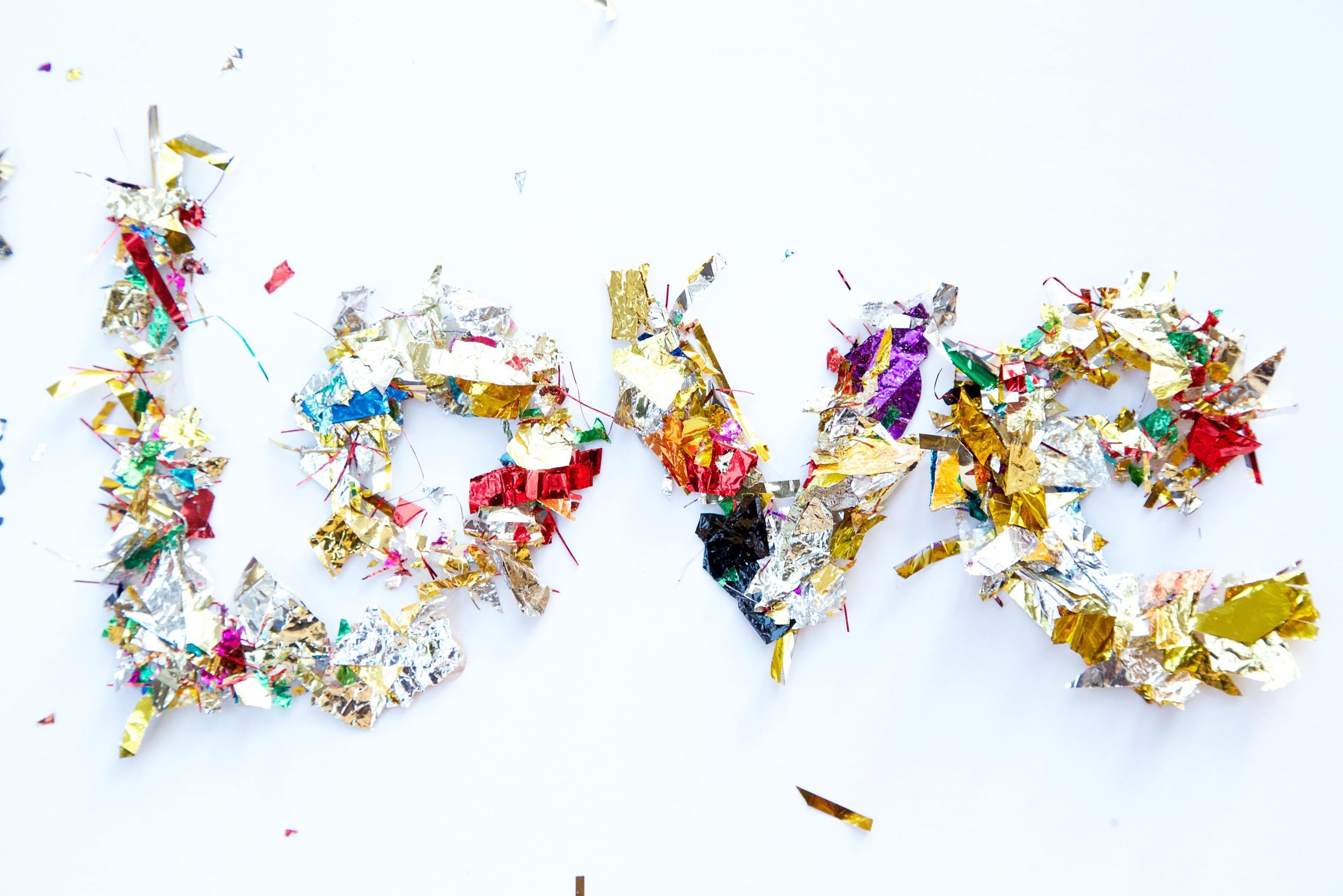 confetti words