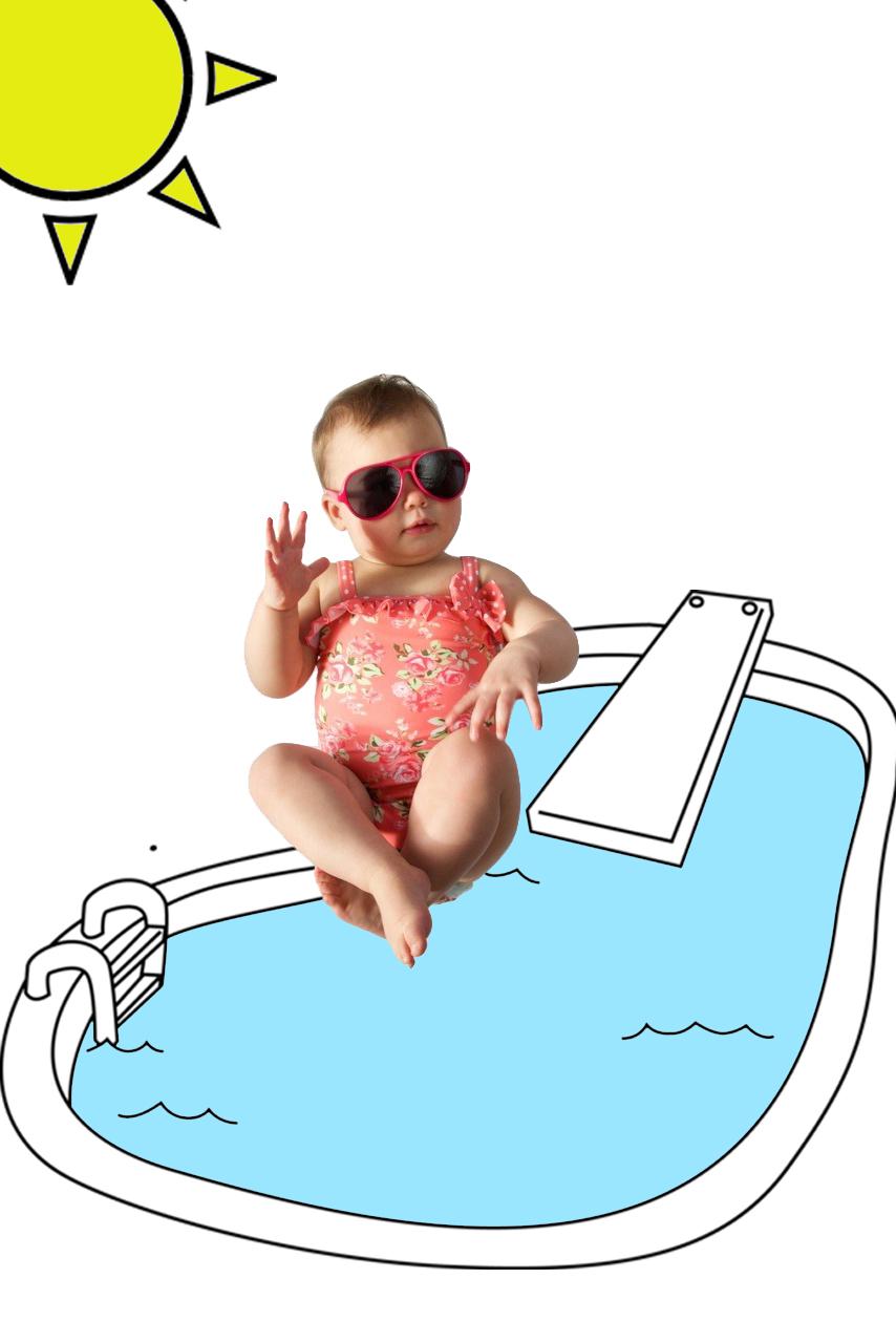 Baby girl swimming costume