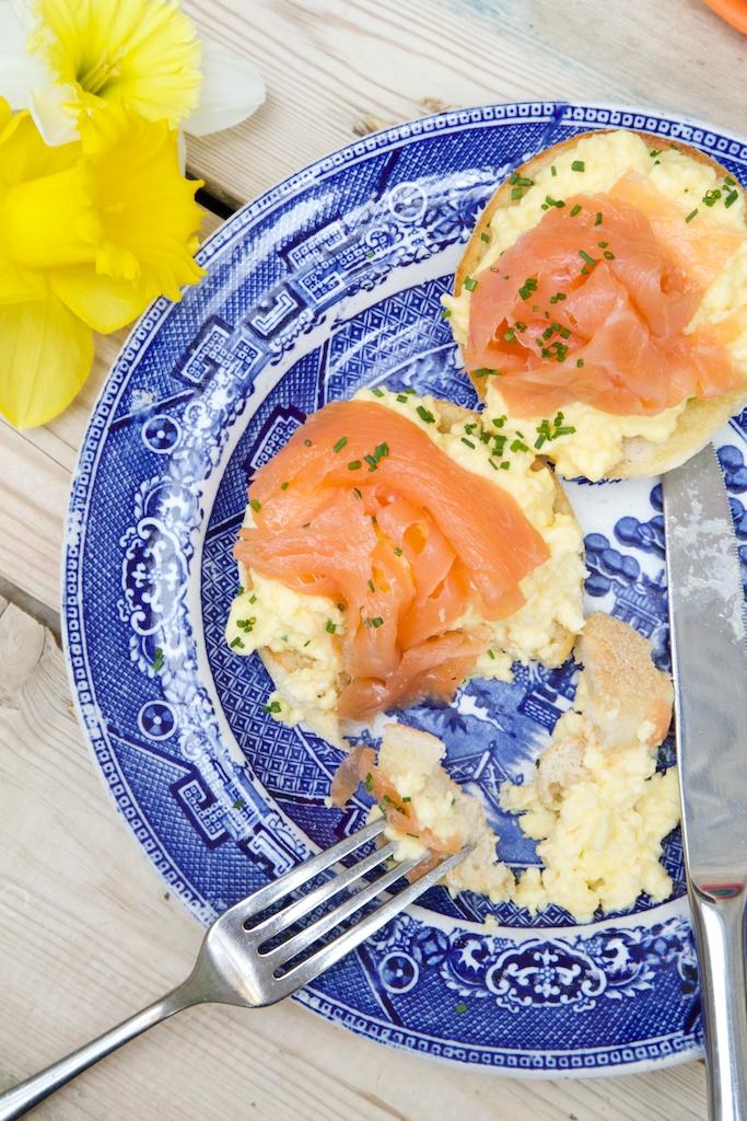 Smocked salmon bagels
