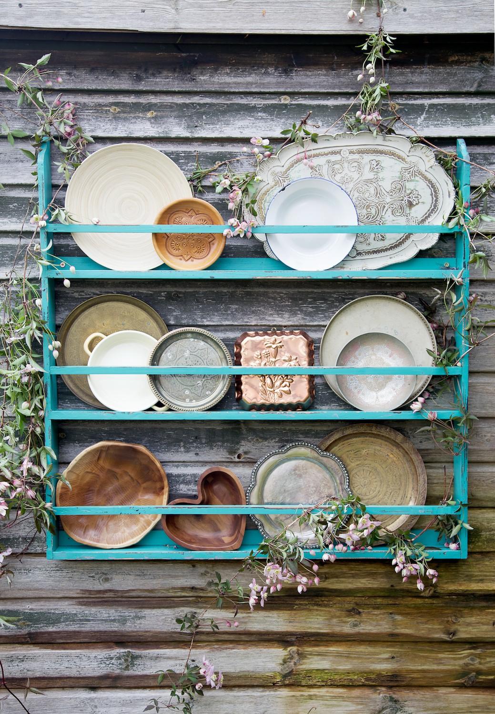 Wood and metal plates