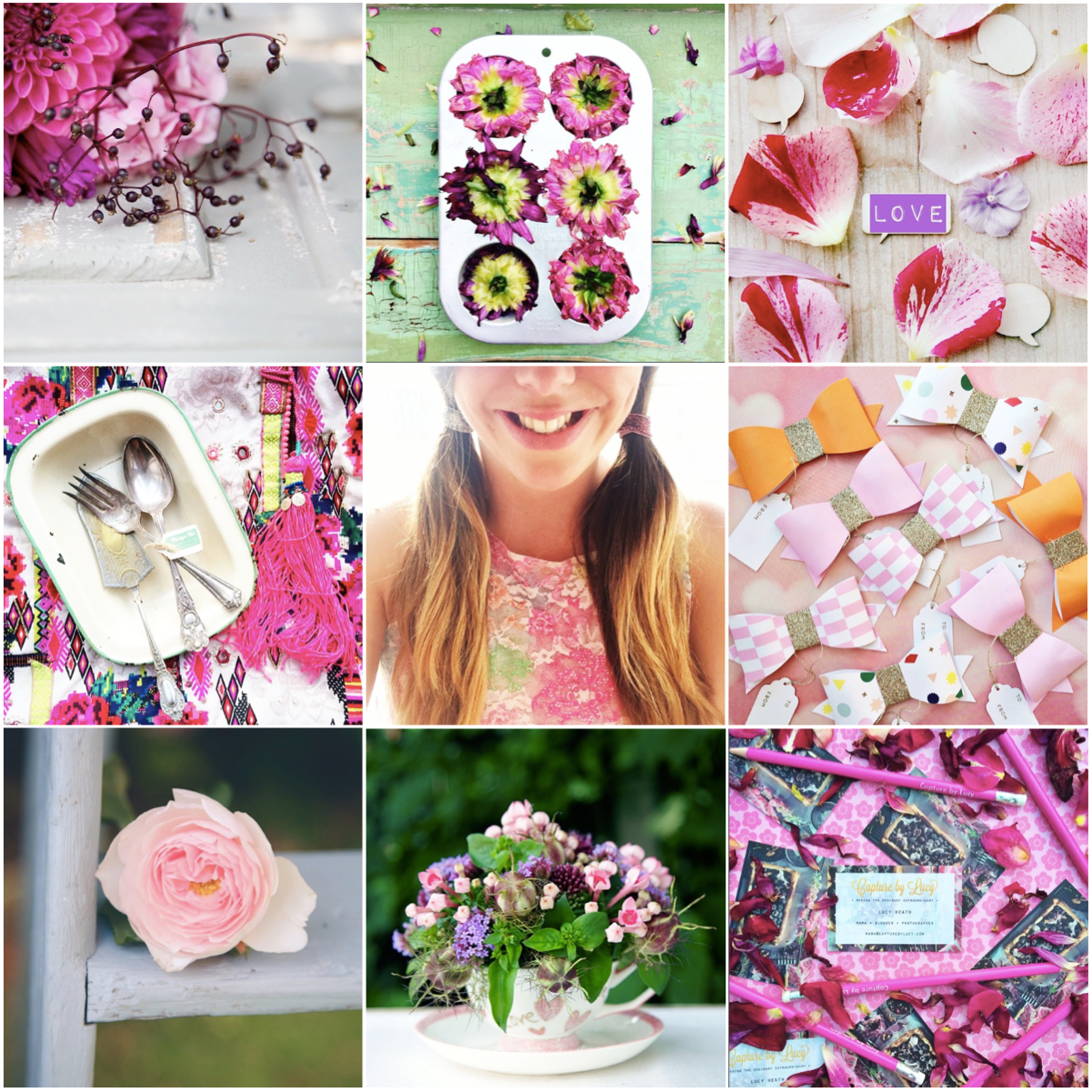 capturing colour pink