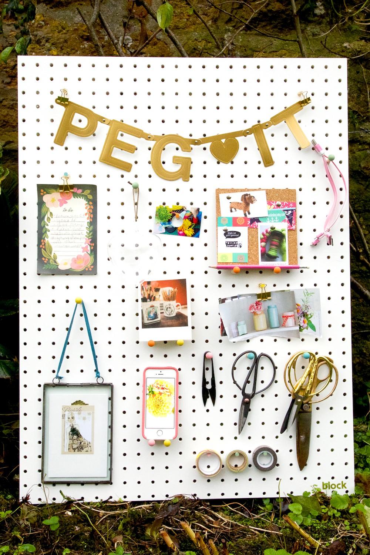 white peg board