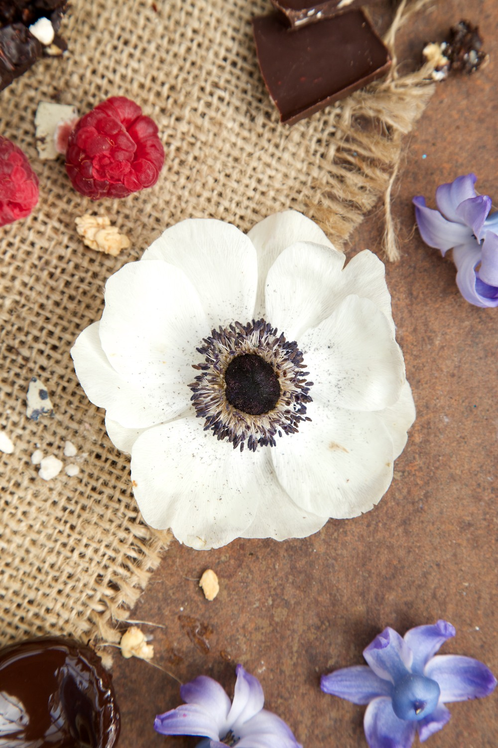 food styling with flowers