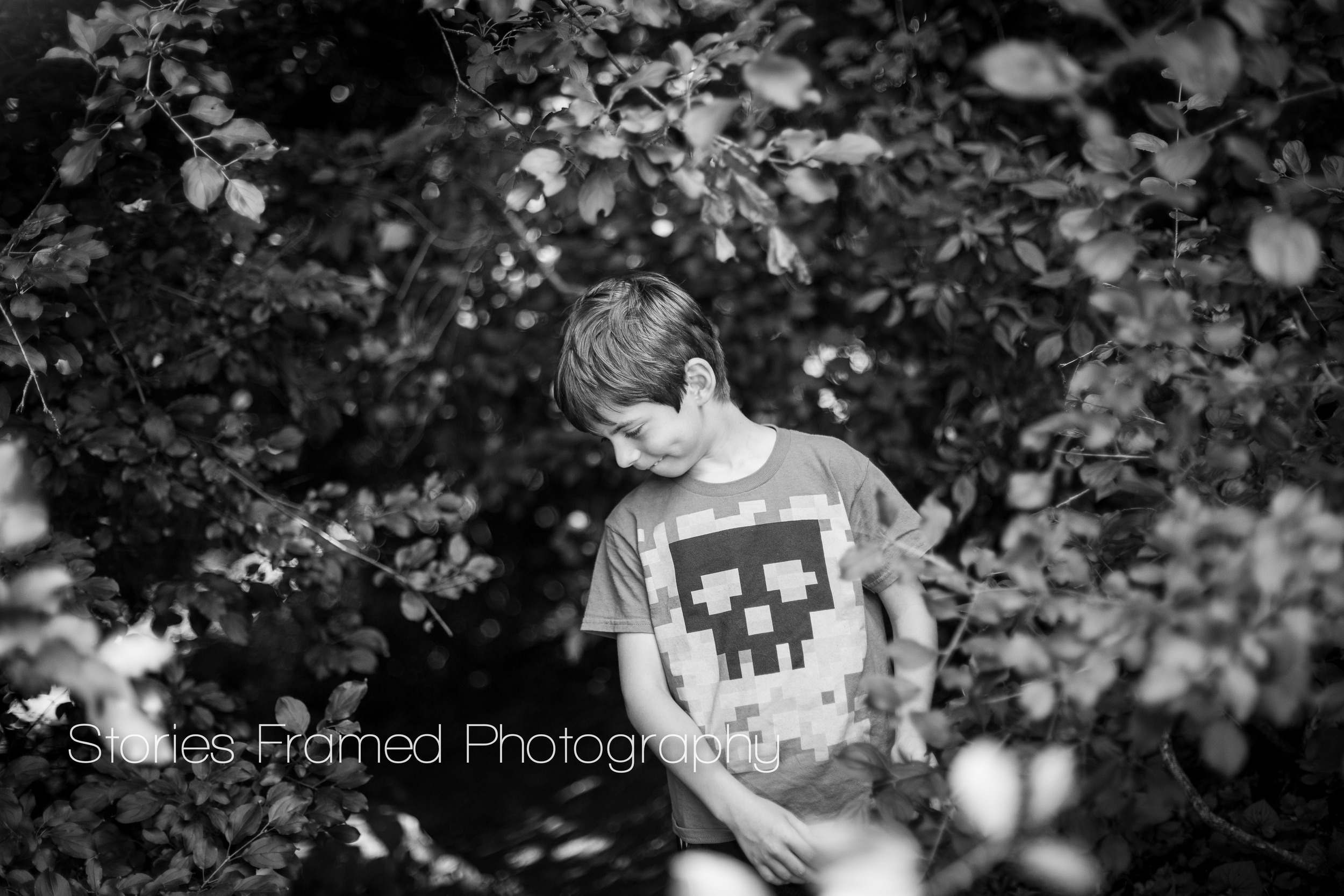 Stories Framed Photography | black and white park portraits | 04