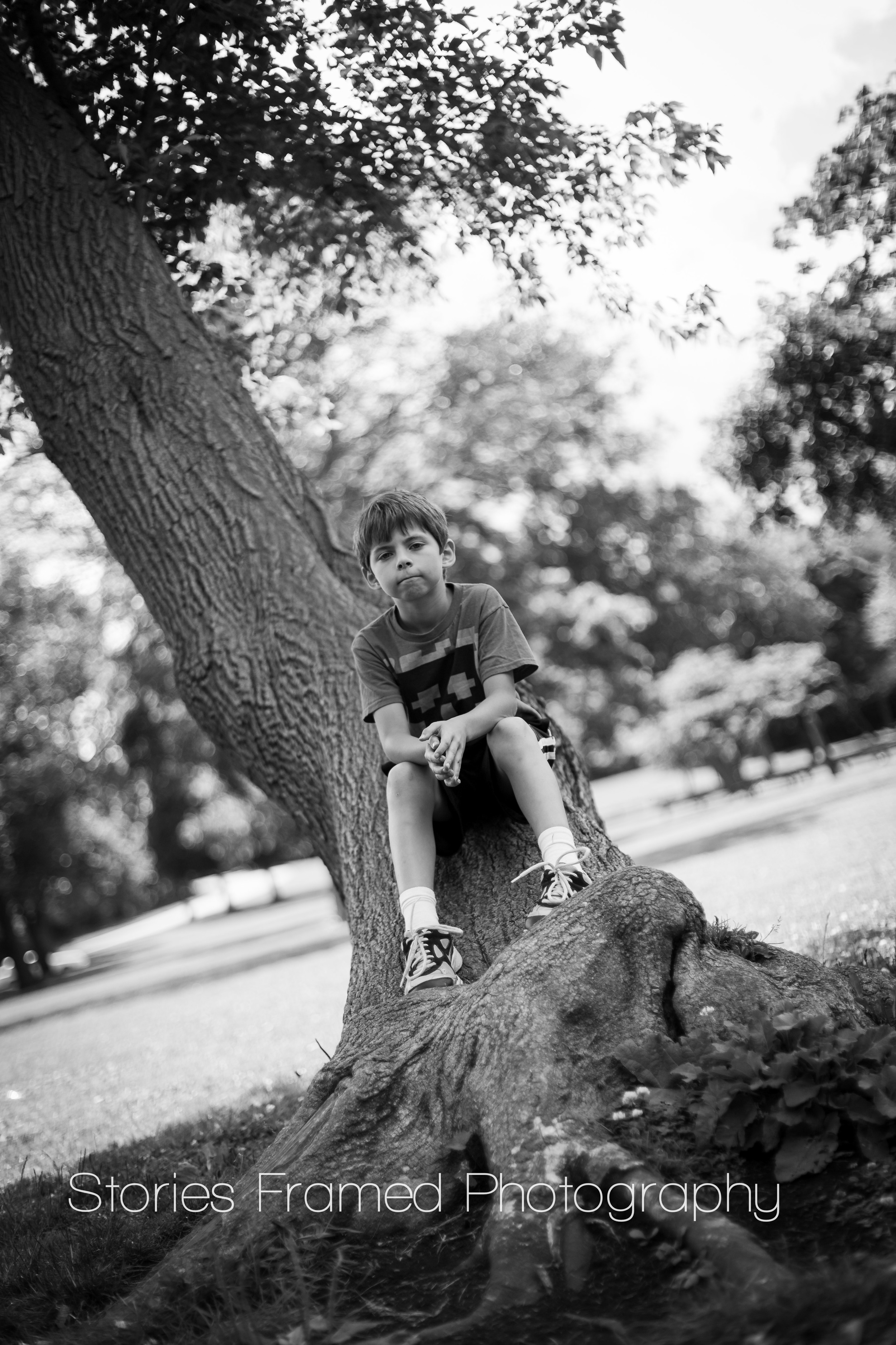 Stories Framed Photography | black and white park portraits | 05