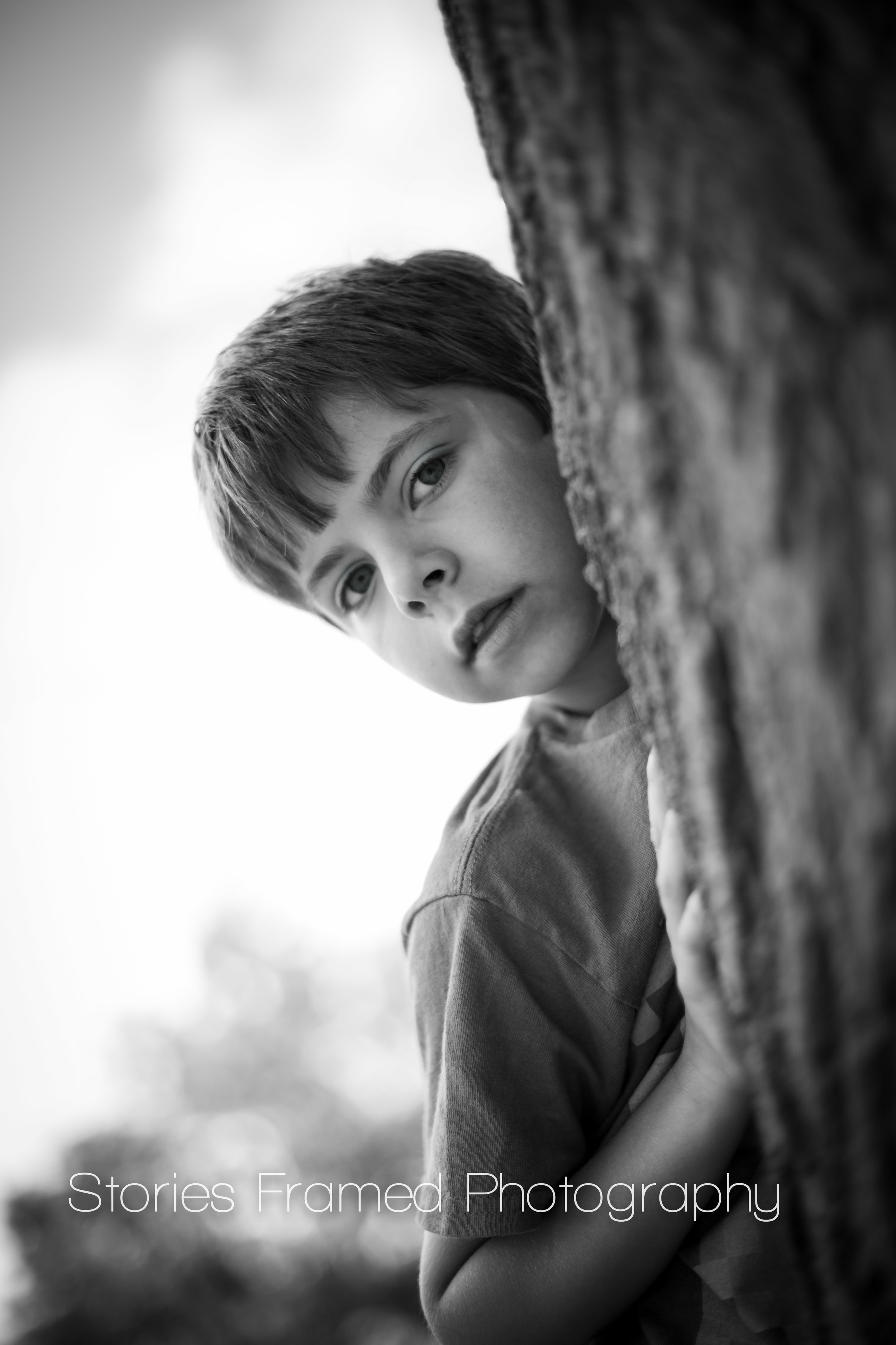 Stories Framed Photography | black and white park portraits | 06