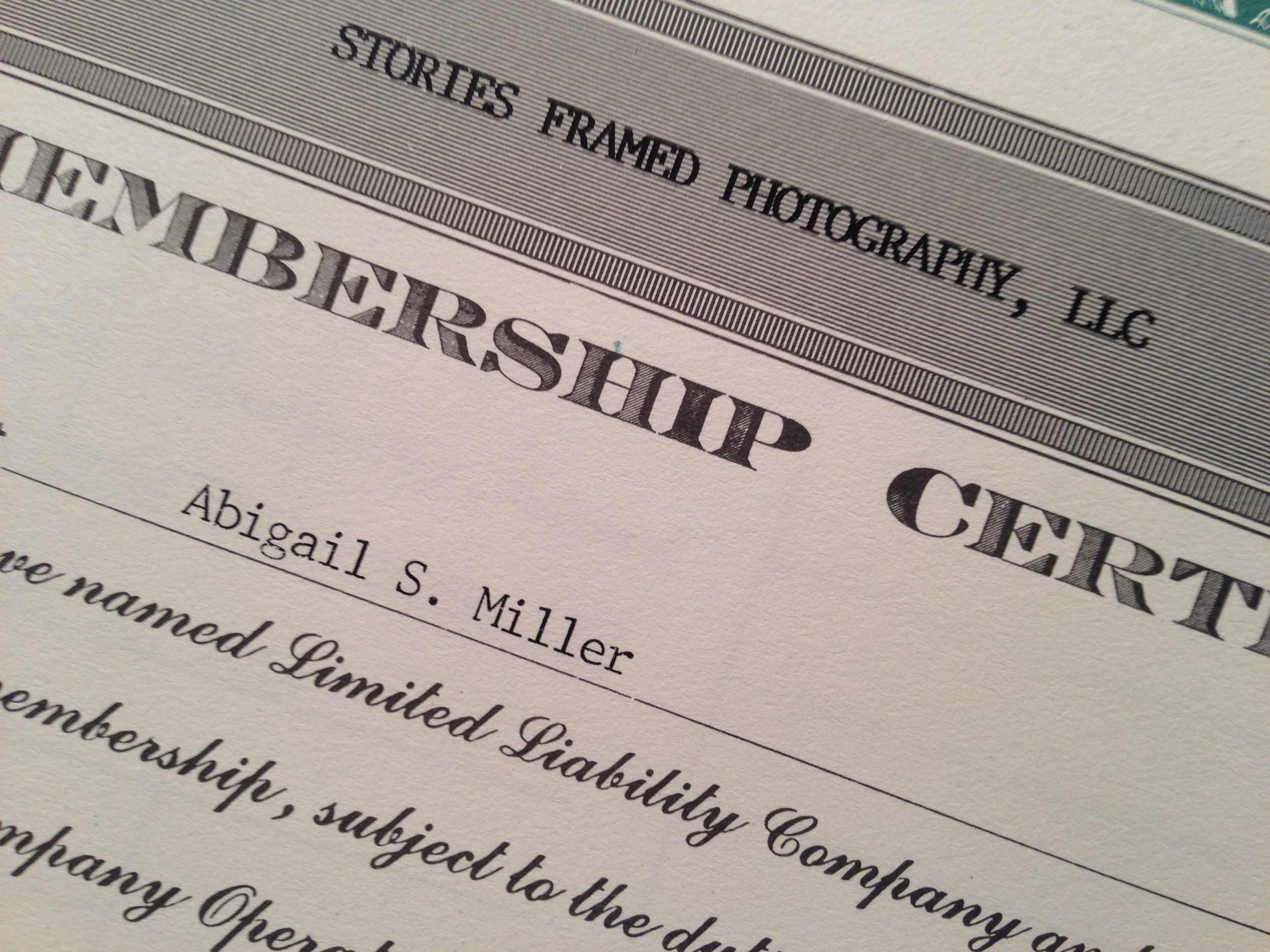 Coming soon to a wall in my studio... the officialLLC certificate! Squeal!