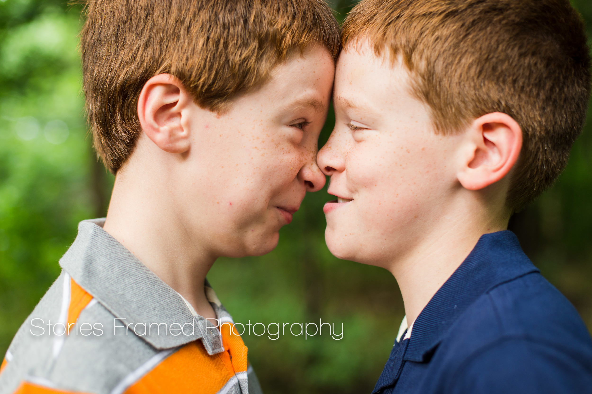 Stories Framed Photography | redheaded twins