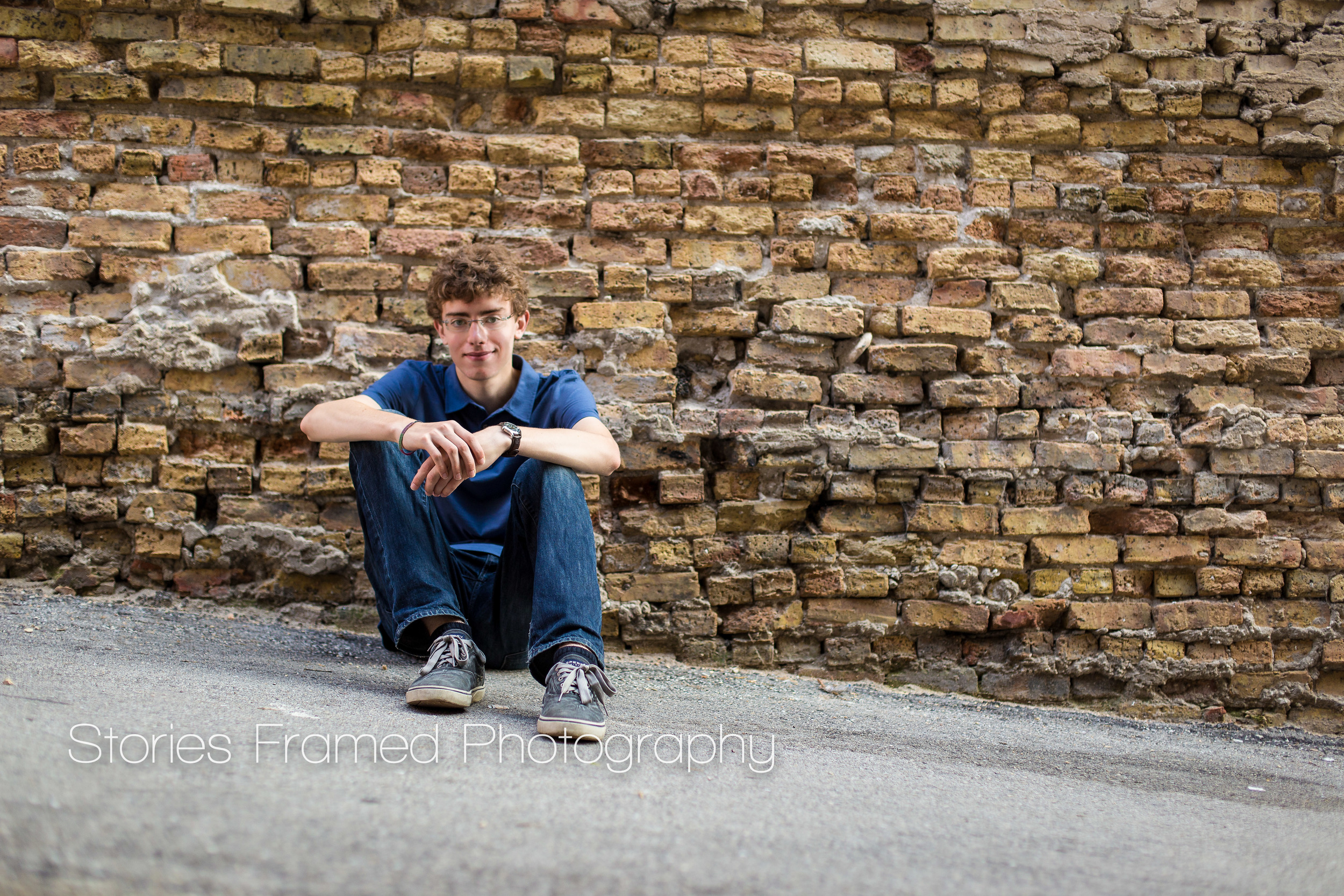 Stories Framed Photography | seniors | Tosa East Class of 2015 |  sitting against wall