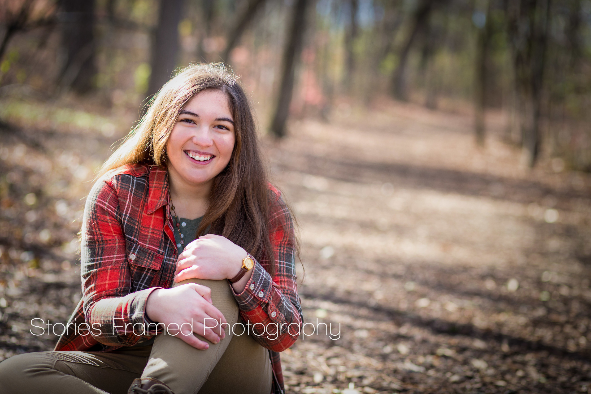 Stories Framed Photography | senior girl in the woods | Pius XI HS