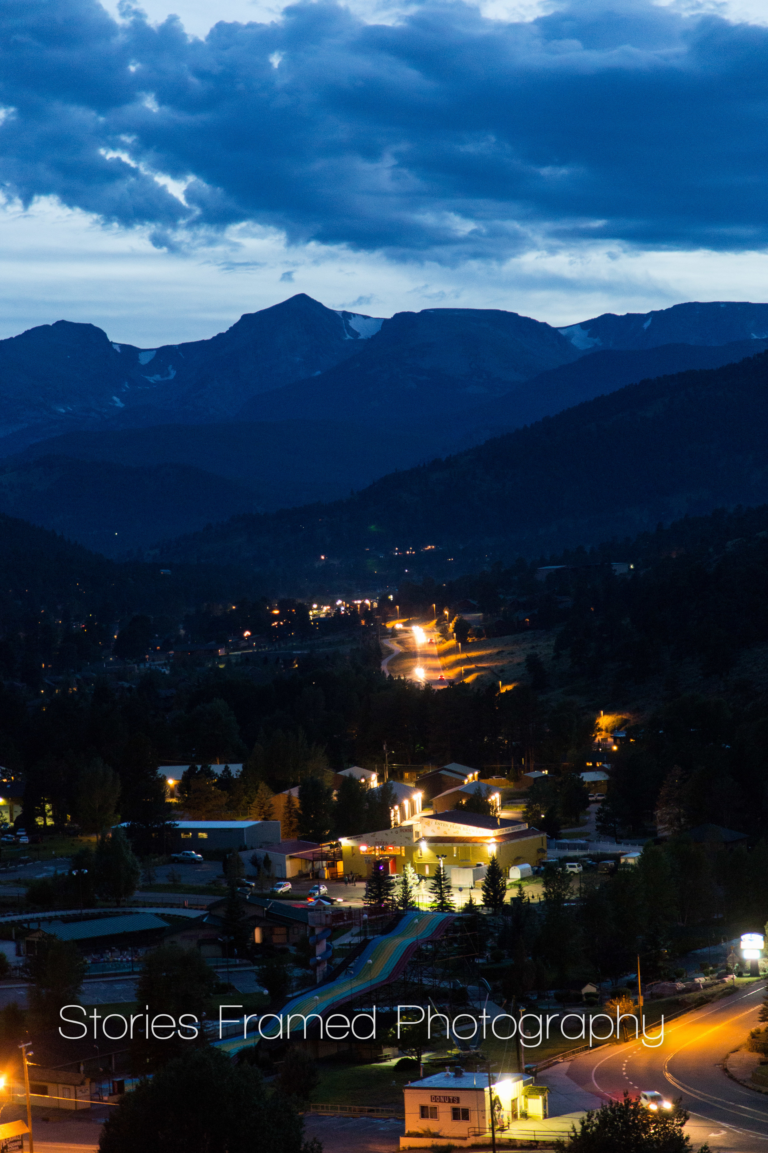 This was the view of Estes Park from our rental.